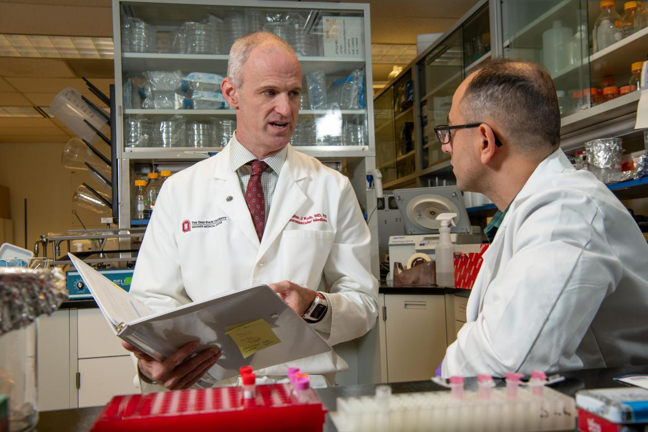 Dr. Stephen Kolb, pictured here, is working to learn what role genetics play in ALS.