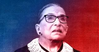 Stylized portrait of RBG. © 2020 The Ohio State University.