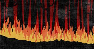 Stylized illustration of a wildfire. © 2020 The Ohio State University.